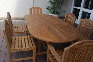 Photo #3: TEAK FURNITURE REFINISHING PRO