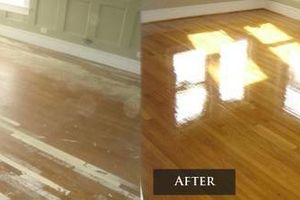 Photo #1: Hardwood Refinishing for less