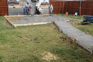 Photo #9: Cheap landscaping. Cement works for patios & pathways.