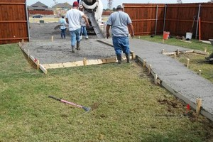 Photo #10: Cheap landscaping. Cement works for patios & pathways.