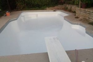 Photo #1: POOL PLASTER RESURFACING. CLEANING. Green POOL To Clean Blue POOL