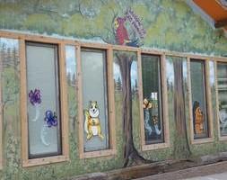 Photo #1: Holiday window painting