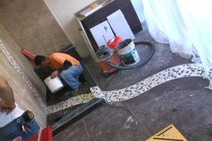 Photo #1: Professional Tile Installation by Christine or Mario