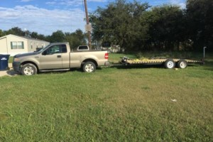 Photo #1: Pickup truck and trailer - moving and hauling a car furniture