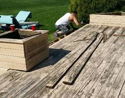 Photo #1: DECK STAINING. GREAT PRICES! GREAT WORK!