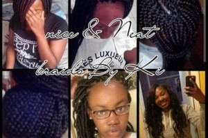 Photo #1: 65box braids, 65marley twist, 80 individuals, 90 faux locs!!