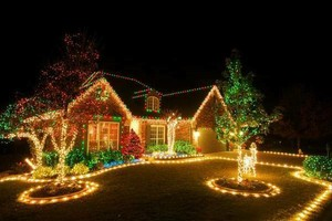 Photo #3: Christmas lights installation!!!