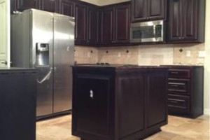 Photo #1: Kitchen Cabinet Refinishing