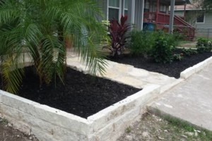 Photo #2: Bahenas Landscaping - Flower beds, stone retaining walls, Mulch
