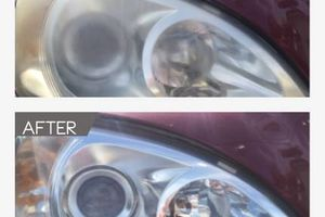 Photo #1: Have foggy/yellow headlights? Let us restore them.