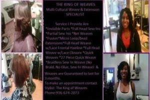 Photo #3: Professional Mobile Licensed Stylist Weave/Extensions Specialist