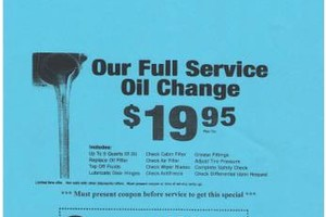 Photo #1: BS International Auto Body. Oil change special $ 19.95