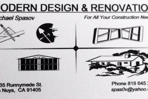 Photo #1: MODERN DESIGN & RENOVATION CONTRACTOR