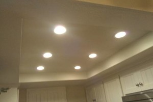 Photo #1: LED Recessed Lights $69ea inclds matrls. The Recessed Light Pros