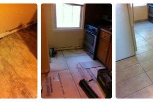 Photo #2: TJ's Home and Lawn. REFINISH HARDWOOD!  Drywall Repair! Trash & Leaf Removal!