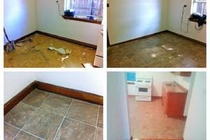 Photo #1: TJ's Home and Lawn. REFINISH HARDWOOD!  Drywall Repair! Trash & Leaf Removal!