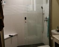 Photo #1: Tile install, bathrooms remodel..