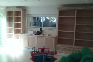 Photo #1: Kitchen cabinets