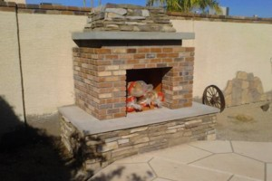 Photo #10: Block work - concrete work - pavers - stone veneer - stucco - demolition