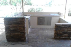 Photo #9: Block work - concrete work - pavers - stone veneer - stucco - demolition