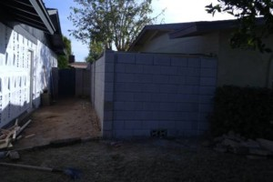 Photo #2: Experience masonry. Block fence and concrete work