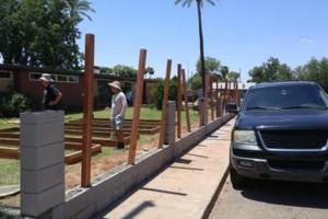Photo #3: Experience masonry. Block fence and concrete work