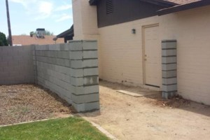 Photo #6: Experience masonry. Block fence and concrete work