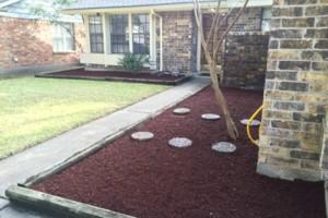 Photo #4: Tapia's lawn care - mulch installation