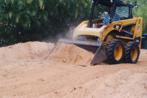 Photo #2: Grading, haul-off, bobcat, dirt-work, lot spin-offs