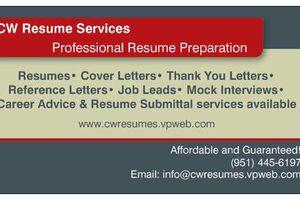 Photo #1: CW Resume Preparation
