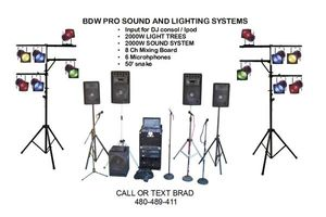 Photo #1: EMERGENCY DJ PA SPEAKER SOUND SYSTEM WITH MICROPHONES
