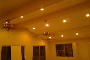 Photo #1: Recess cans and lighting, ceiling fan installs