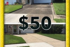 Photo #1: Pressure washing. $50 special 2 car driveway. Call today for your free estimate!...