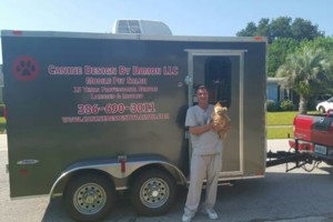Photo #1: Mobile Pet Grooming. Canine Design by Damon