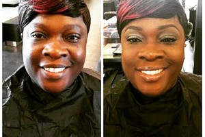 Photo #2: Hair By CosMob <3 w/comp eyebrow enhancement.