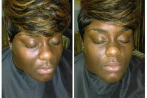 Photo #1: Hair By CosMob <3 w/comp eyebrow enhancement.