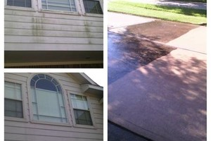 Photo #2: Pressure washing - cleaning driveways and houses $85-$145