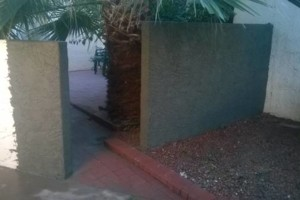 Photo #1: Block fence, BBQ, Stucco, Pavers, Fire pit, Chimneys