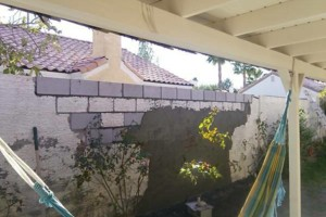 Photo #3: Block wall and Stucco repair, paint to match...