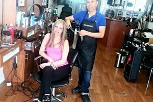 Photo #1: Hair color, higlights & blow dry $99
