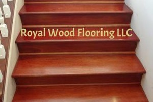 Photo #1: Engineered Hardwood Flooring Installation - Laminate, Bamboo on Stairs