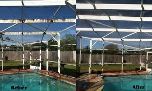 Photo #8: Titan Power Wash. Winter Deals! Brighten Your Soffits, Gutters & Pool Cage!