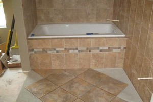Photo #1: Professional Ceramic Tile Installation. Floors by Grace