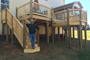 Photo #1: DECKS, SCREENED PORCHES. UNBEATABLE PRICES! Ben's Home Improvements