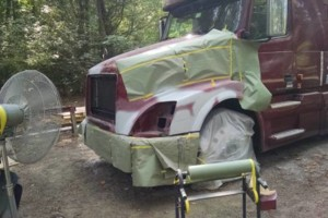 Photo #3: FIBERGLASS TRUCK HOOD REPAIR & PAINT