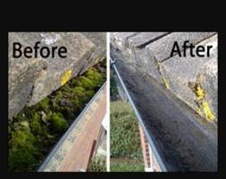 Photo #2: Gutter cleaning by: The Gutter Genie LLC