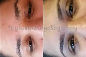 Photo #1: Brows and Lashes. Glamour eyes by Zippy