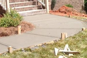 Photo #3: CONCRETE WORK.  References available for commercial & residential work.