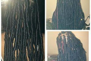 Photo #1: Faux locs for the low