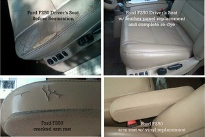 Photo #1: Leather & Vinyl Seat Repair
